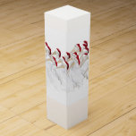 """Fun Holiday Wine Gift Box with Pelicans<br><div class=""""desc"""">This nautical themed gift box is so cute with a bunch of white pelicans in Santa Hats!  An excellent way to wrap up a great bottle of wine!</div>"""