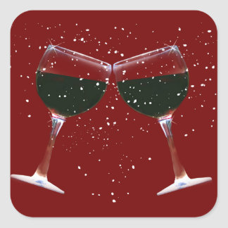 Fun Holiday Wine Stickers