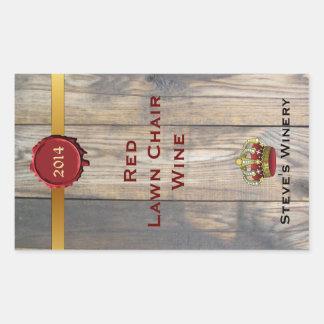 Fun Home Made Wine Bottle Label Rectangular Sticker