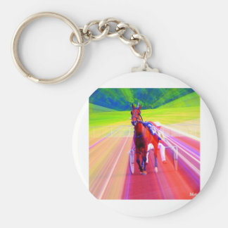fun horse basic round button keychain