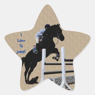 Fun Horse Jumper Star Sticker