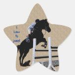 Fun Horse Jumper Star Stickers