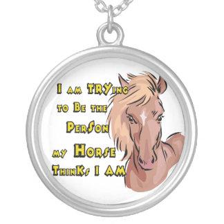 Fun Horse Lover's Silver  Necklace