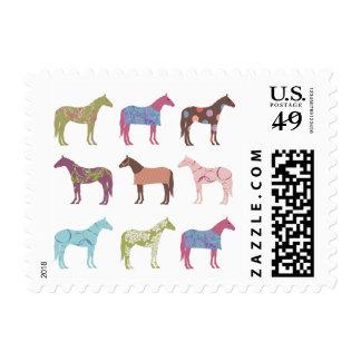 Fun Horse Pattern Equestrian Postage