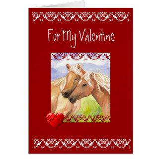 Fun Horse Valentine Love Poem Card