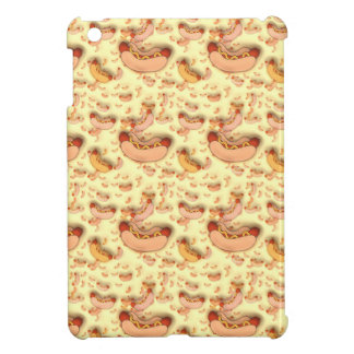 Fun Hot Dog Wiener Pattern, iPad Mini Case