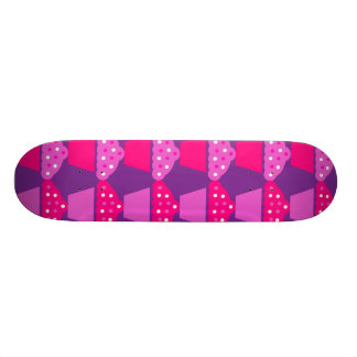 Fun Hot Pink and Purple Cupcake Pattern Skate Board Deck