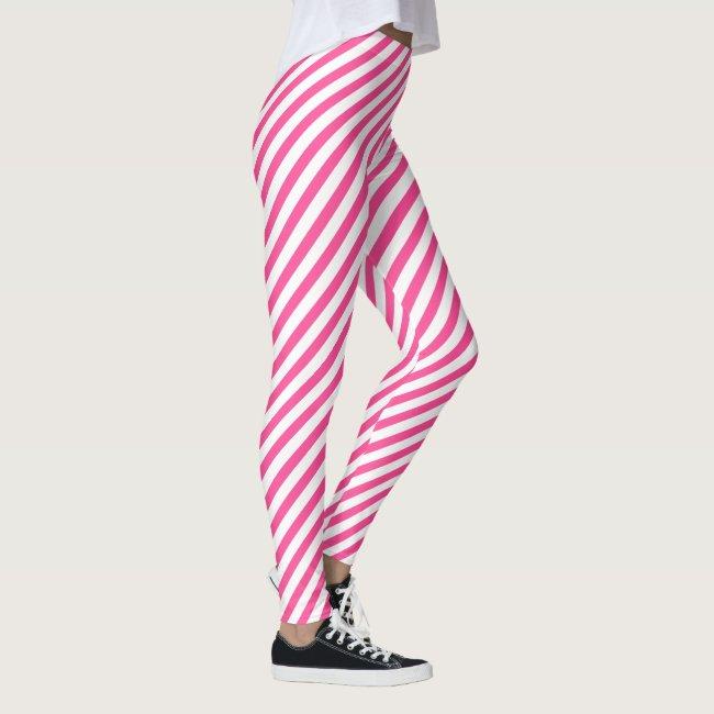 Fun Hot Pink Diagonal Striped