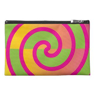 Fun Hot Pink Lollipop Swirl Design Green Yellow Travel Accessory Bags