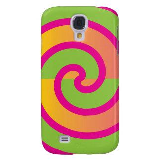 Fun Hot Pink Lollipop Swirl Design Green Yellow Samsung S4 Case