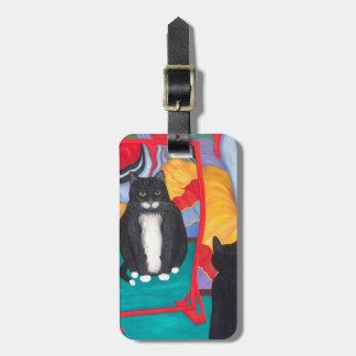 Fun House Fat Cat Bag Tag