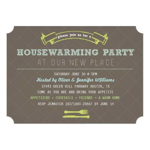 Fun Housewarming Party Invite Cards