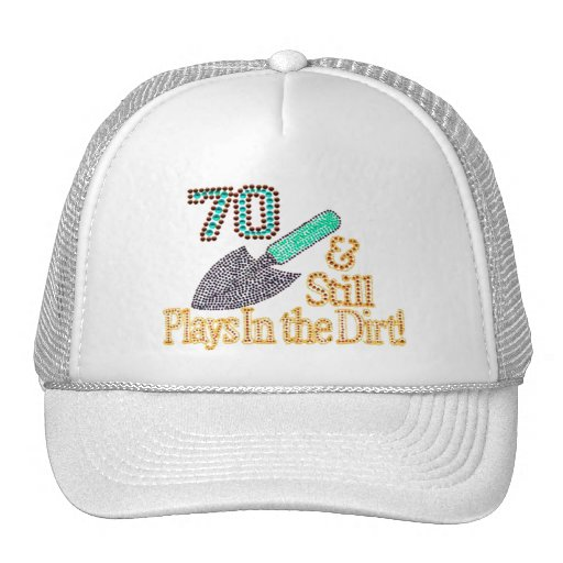 Fun humor gardening 70th birthday gift for her him trucker for Gardening gifts for him