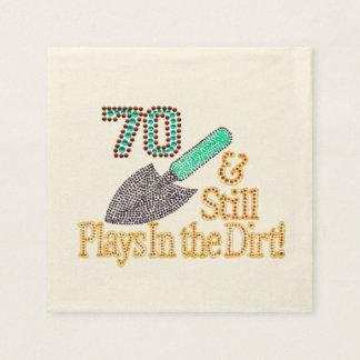 Fun Humor Gardening 70th Birthday Party Gift Paper Napkin