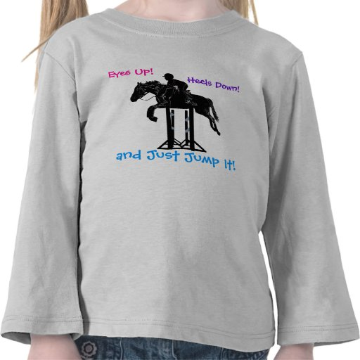 Fun Hunter/Jumper Equestrian Horse Kid's Shirt
