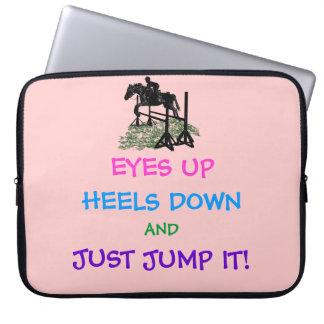 Fun Hunter/Jumper Equestrian Laptop Sleeve