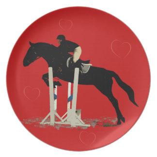 Fun Hunter Jumper Red Horse Plate