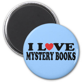 Fun I Love Mystery Books T-shirt 2 Inch Round Magnet