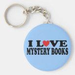 Fun I Love Mystery Books T-shirt Keychains