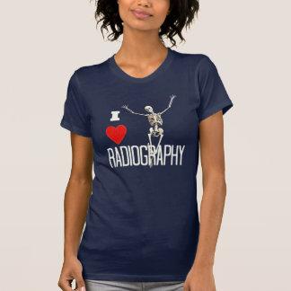 "Fun ""I Love Radiography"" Happy Skeleton T-Shirt"
