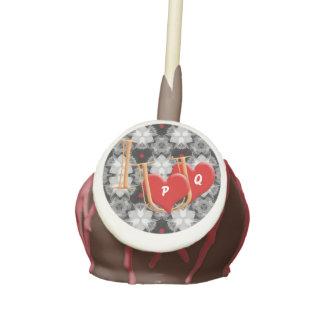 "Fun ""I love you"" with cute hearts Cake Pop Cake Pops"