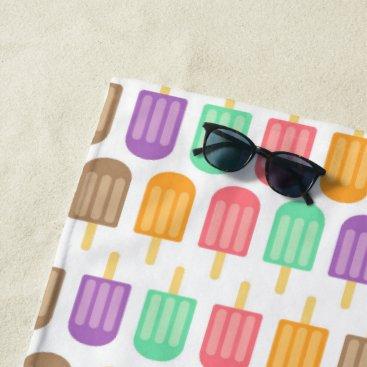 Beach Themed Fun ice cream pattern beach towel