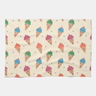 Fun Ice Cream Pattern Kitchen Towel