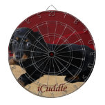 Fun iCuddle Long Hair Dachsund Dartboard With Darts