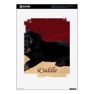 Fun iCuddle Long Hair Dachsund iPad 3 Decal