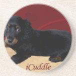 Fun iCuddle Long Hair Dachsund Sandstone Coaster