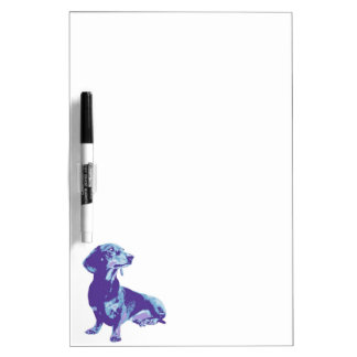 Fun image of pets on a varity of products dry erase board