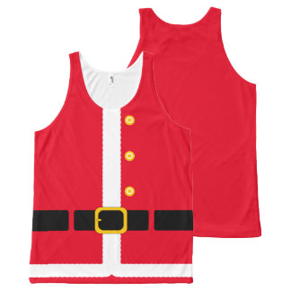 Fun imitation Christmas Santa Suit costume… All-Over-Print Tank Top