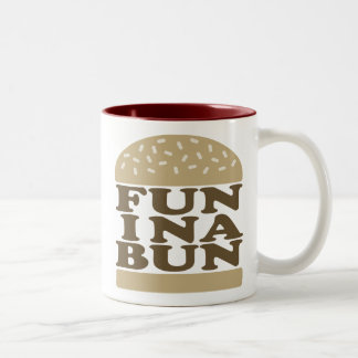 Fun in a Bun Two-Tone Coffee Mug