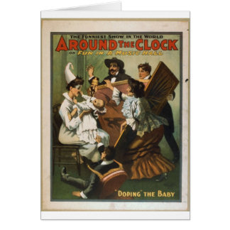 Fun in a music hall card