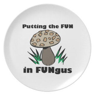 Fun in Fungus Party Plate