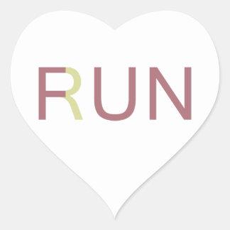 Fun In Run Heart Sticker