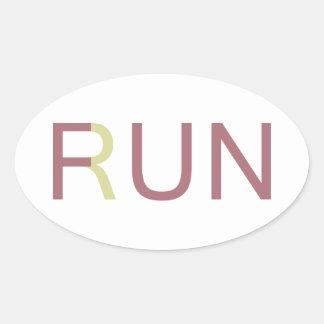 Fun In Run Oval Sticker