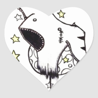 Fun in Space Heart Sticker
