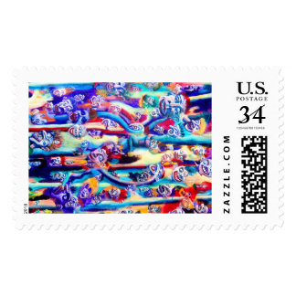 Fun in the Bamboo Patch Postage Stamp