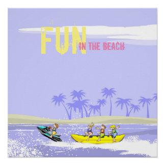 Fun in the Beach Banana boat and Jet ski Poster