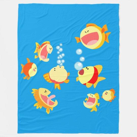 Fun In The Fish Tank Cartoon Fish Fleece Zazzle Com