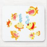 Fun in The Fish Tank Cartoon Mousepad