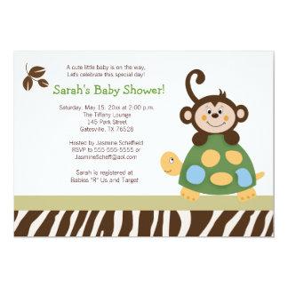 Fun in the Jungle 5x7 Baby Shower Invitation