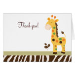 Fun in the Jungle Giraffe Folded Thank you notes Stationery Note Card