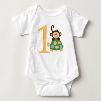 Fun in the Jungle Monkey Turtle 1st Birthday Shirt