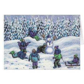 Fun in the snow card