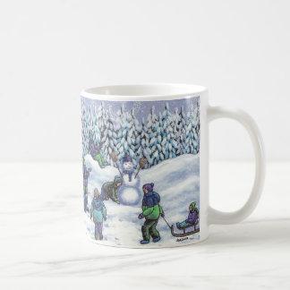 Fun in the snow coffee mug