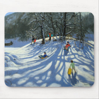 Fun in the snow Morzine France Mouse Pad