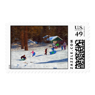 Fun in the snow stamps