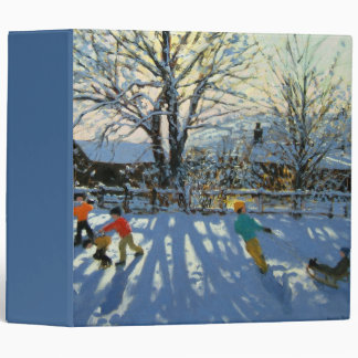 Fun in the snow Tideswell Derbyshire Binder